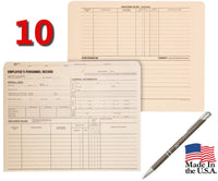 Quality Park Personnel Record Jacket Pockets, Flat Expansion, 9.5 x 11.75 Inches, 10 Pack with Bonus Advantage Retractable Pen