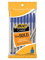 Bic Blue Bundle Sampler, Ballpoint Pens, 4 Styles, All Blue, Xtra Bold, Xtra Comfort, Xtra Life and Xtra Smooth with Pen Pal Pen Holder and Bonus AdvantageOP Black and Chrome Retractable Pen