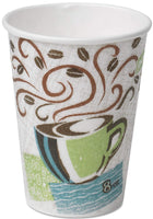 Hot Cups, Paper, 8 Ounce, Coffee Dreams Design, 25/Pack, Made in USA (50, 8 Ounce)