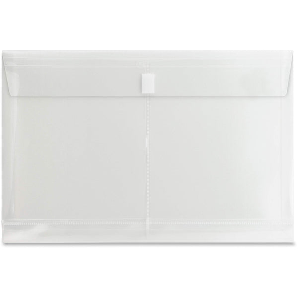 "Legal Size File Pockets, 8 1/2"" x 14"" Sheet Size, 1 inch Expansion, Poly, Clear, Pack (24)"