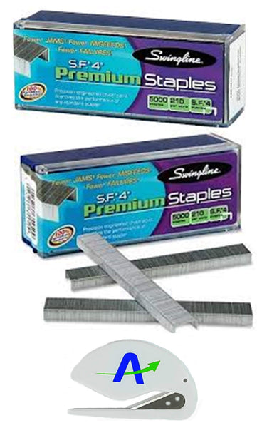 "Swingline Staples, S.F. 4, Premium, 1/4"" Length, 210/Strip, 5000/Box, Bundle of 2 Box = 10,000 Staples (35450)"
