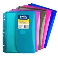 4 Pack 3-Ring Poly Binder, Mini Size 5.5 x 8.5, 1-Inch Capacity, 1 of Each Color (30710) Plus 4 Binder Pockets asst Colors (08730) and Custom AdvantageOP Retractable Pen