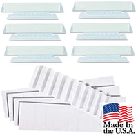 "100 Pack Hanging Folder Tabs and Inserts, 3.5"", Clear, 1/3 Cut"