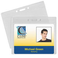 C-Line ID Badge Holders, Poly, with Clip