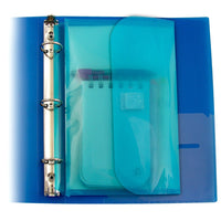 C-line Mini 5.5 x 8.5 Poly Binder Pocket w/ Hook Loop Closure, with Custom AOP Pen