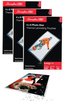 "Swingline GBC Laminating Sheets, Thermal Laminating Pouches, 4"" x 6"" Photo Size, 5 Mil, HeatSeal LongLife, 30 Pack Bundle, 3 Packs of 10 (3747322)"