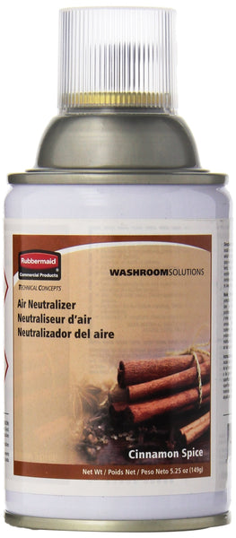 Rubbermaid Commercial FG400696 Standard Aerosol Refill for Microburst Metered Air Care Systems, Cinnamon Spice