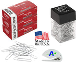 Acco Jumbo Smooth Paper Clips, 100 Per Box, 9 Boxes Includes Magnetic Paper Clip Holder and Custom Letter Opener (900)