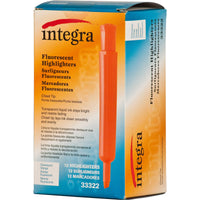 Integra Desk Highlighter, Chisel Tip, Fluorescent Orange (ITA33322)