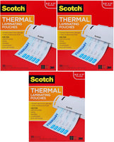 Scotch Thermal Laminating Pouches, 100-Pack, 8.9 x 11.4 inches, Letter Size Sheets (TP3854-100) Pack of 3