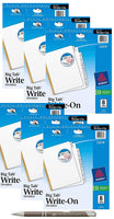Avery Big Tab Write & Erase Dividers with Bonus AdvantageOP Custom Retractable Pen (6 Pack of 8 Tabs)