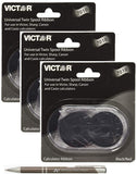 Bundle of 3 Genuine Victor Brand 7010 Black and Red Ribbons, for use with Aurora, Canon, Casio, Innovera, Sharp, TI and Victor calculators. Includes Bonus AdvantageOP Custom Metal Retractable Pen
