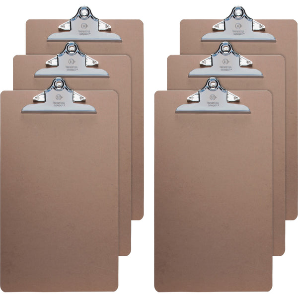Business Source Legal Size Hardboard Clipboards, Pack of 6