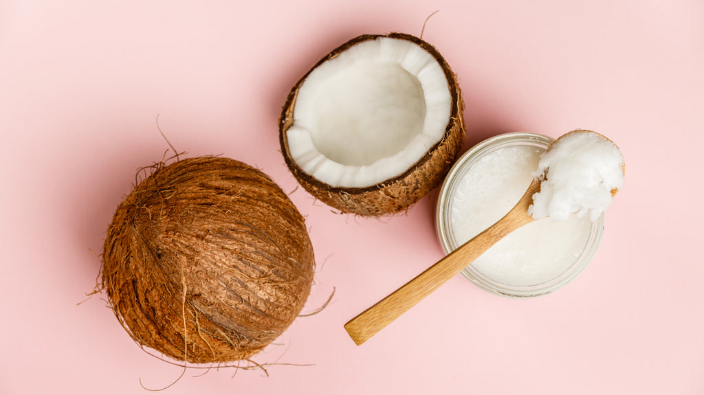 Coconut oil from coconuts