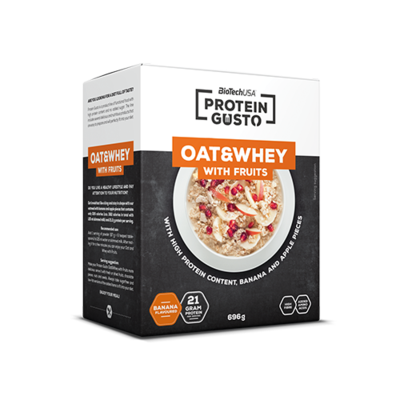 Protein Gusto - Oat & Whey with fruits 696 g - biotech.shop.hu