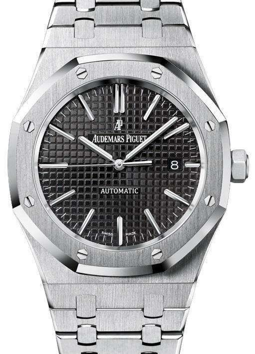 e6717c13c04 Swiss Audemars Piguet - Royal Oak 15400 SS Black Replica watch ...