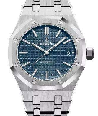 7e8c968a159 Swiss Audemars Piguet - Royal Oak 15400 SS Blue Replica Watch