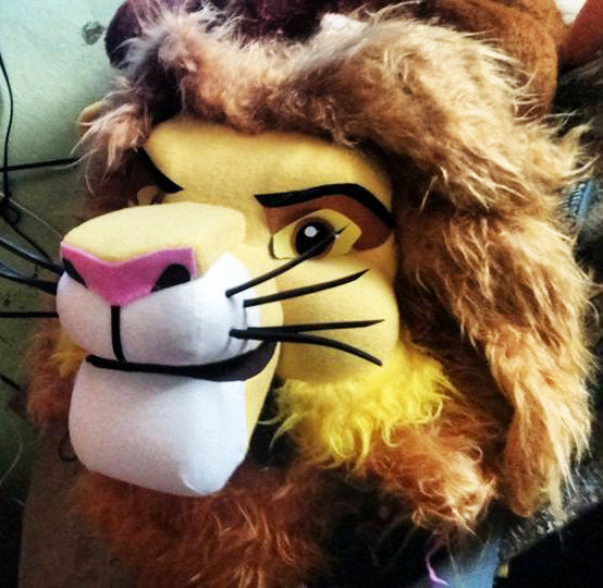 Lyon Mascot Costume Head ONLY STD Adult size