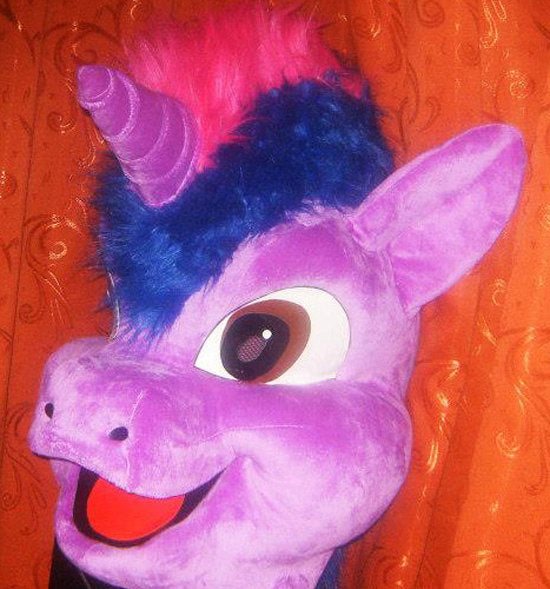 Unicorn Fursuit Head