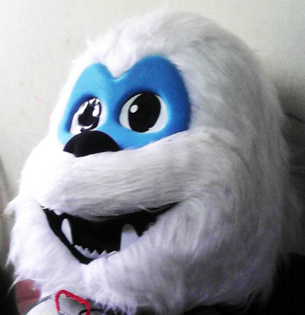 Snowman Mascot Costume Head Adult Costume