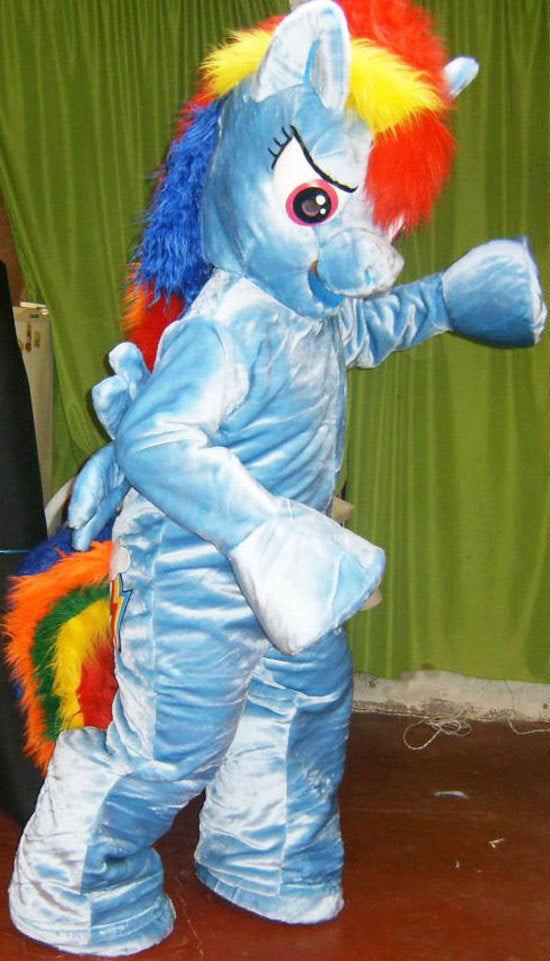 Rainbow Dash Adult Mascot Costume