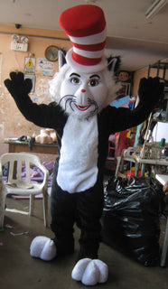 Cat in the Hat Mascot Costume Adult Costume