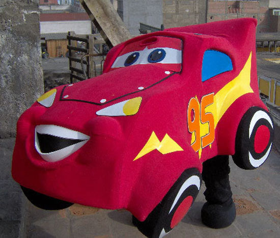 Red Car Mascot Costume Adult Costume