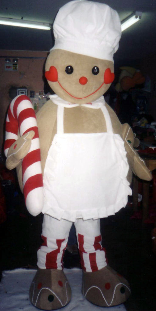 GingerbreadMan Mascot Costume Adult Costume 002