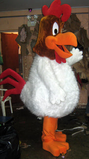 Claudio Rooster Mascot Costume Adult Cartoon Character Costume
