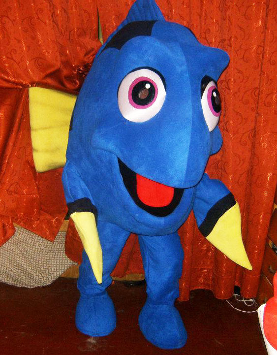 Dory Mascot Costume Adult Fish Costume