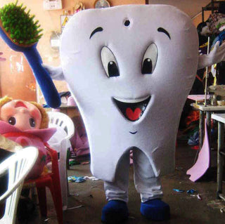 Tooth Mascot Costume Adult Costume
