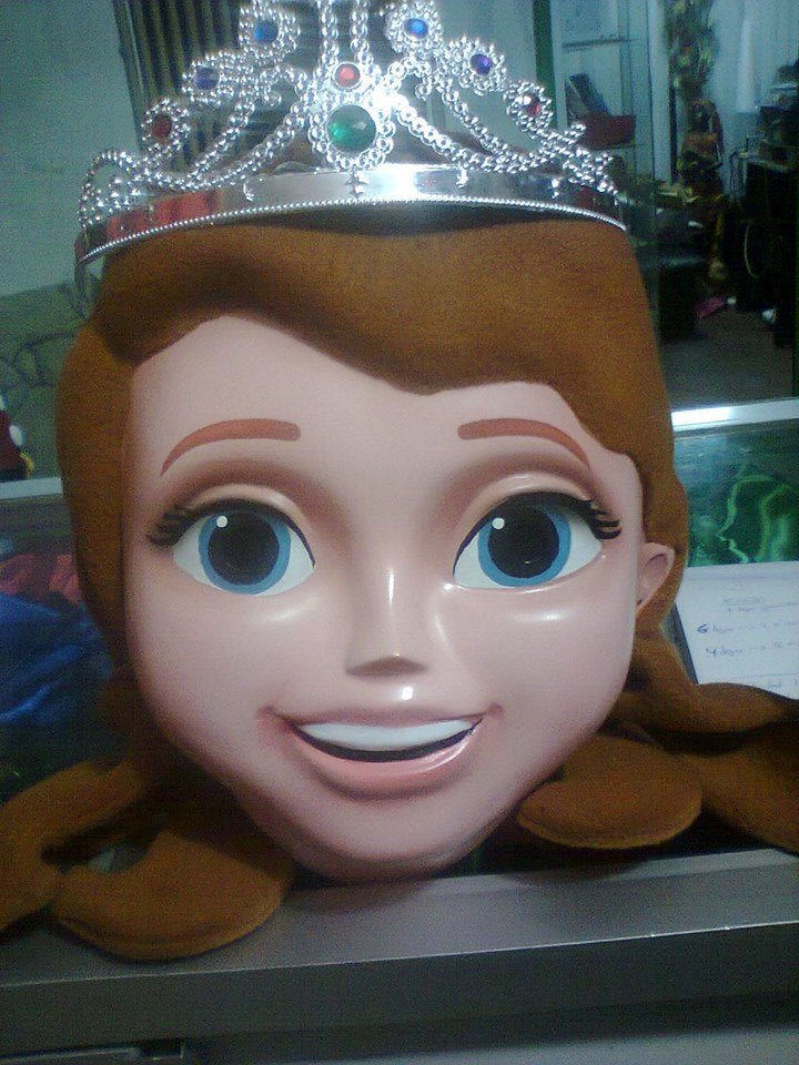 Sofia the First Mascot Costume Head ONLY STD Adult size
