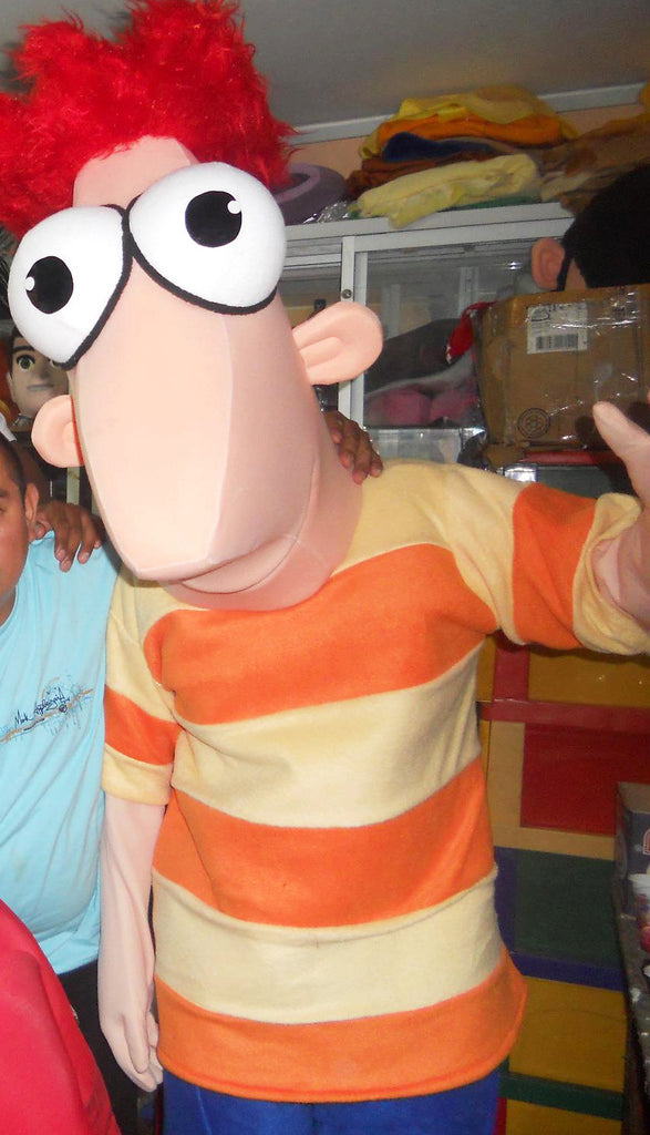 Phineas Mascot Costume Adult Costume