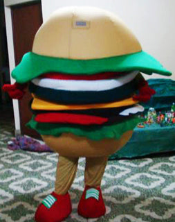 Hamburger Mascot Costume Adult Costume