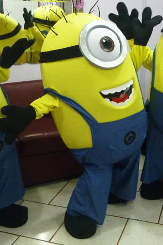 One Eyed Minion Mascot Costume Adult Costume