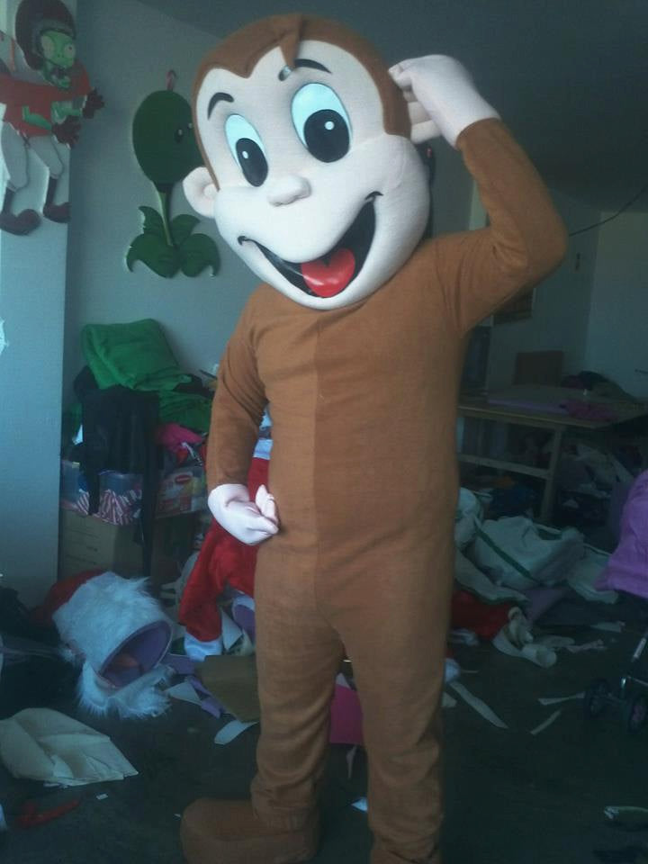 Monkey Mascot Costume Adult Costume
