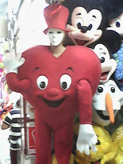 Heart Mascot Costume Adult Costume Valentine's Day