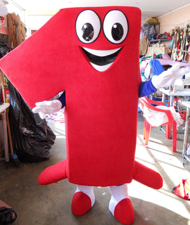 Numer One Mascot Costume Adult Costume