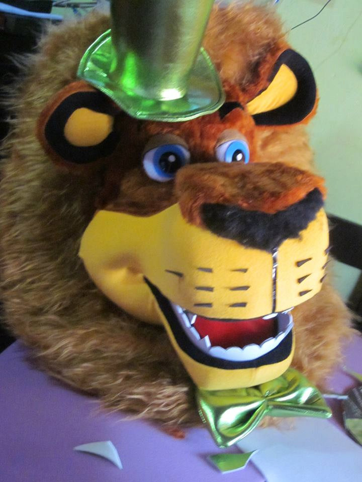 Lion Head Mascot Costume Adult Costume 003