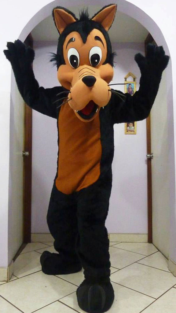 Happy Wolf Mascot Costume Adult Costume