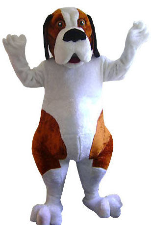 Saint Bernard Dog Mascot Costume Adult Character Costume