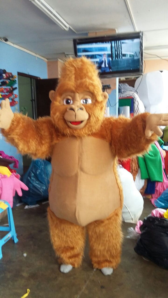 Gorilla Mascot Costume Adult Brown Gorilla Costume