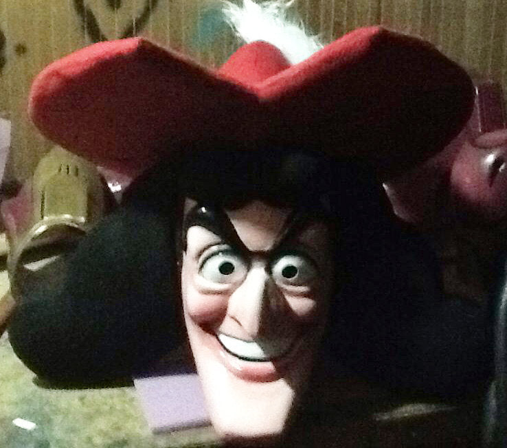 Captain Hook Mascot Costume Head ONLY STD Adult size