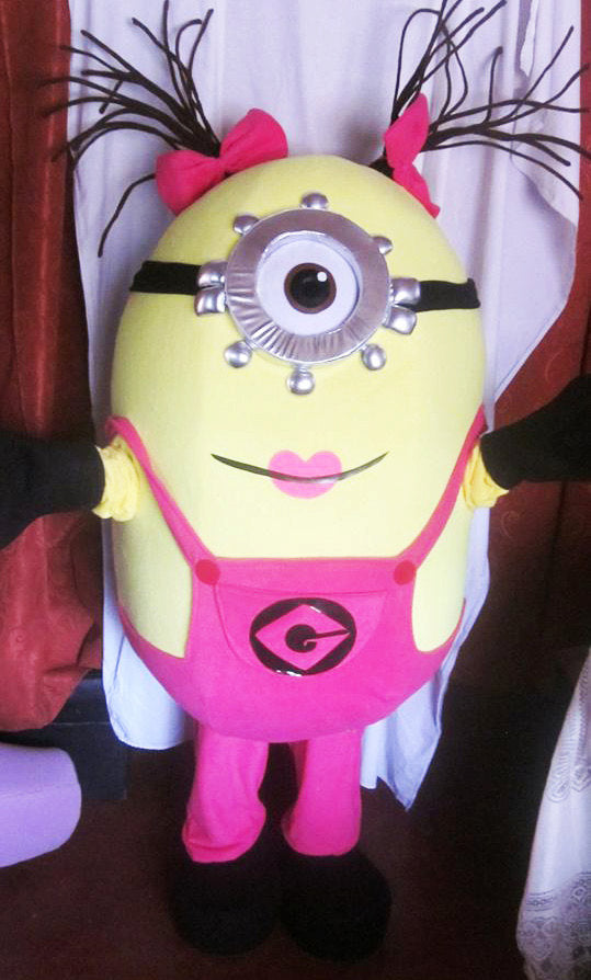 Girl Minion Mascot Costume Adult Costume