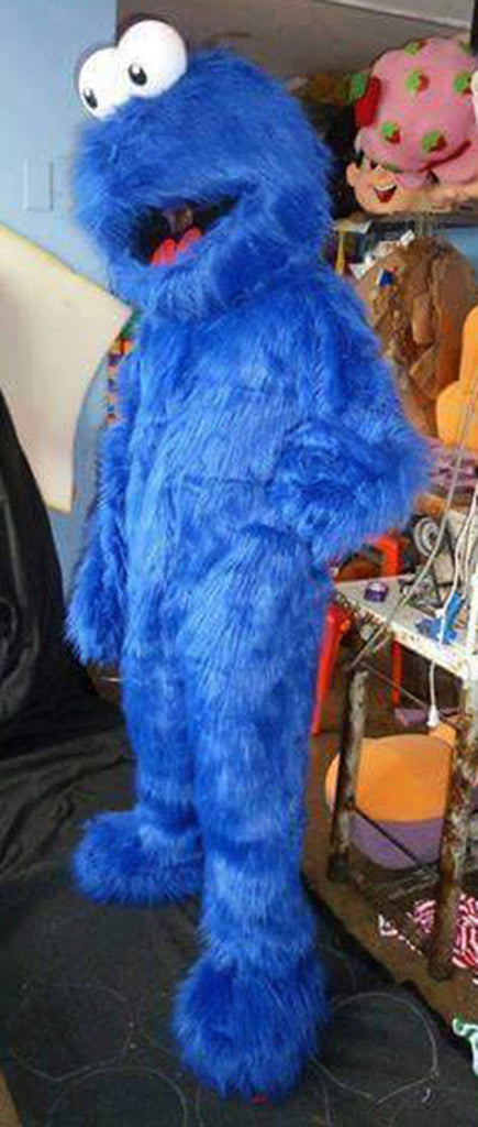 Cookie Monster Mascot Costume Adult Character Costume