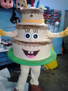 Birthday Party Cake Mascot Costume Adult Character Costume