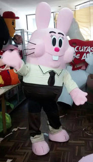 Pink Bunny Mascot Costume Adult Character Costume