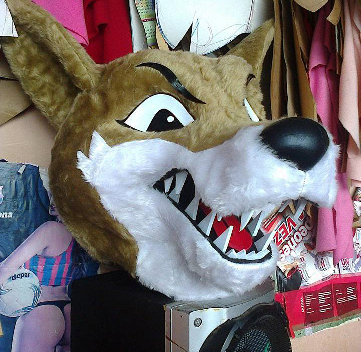 Coyote Mascot Costume Head Adult size