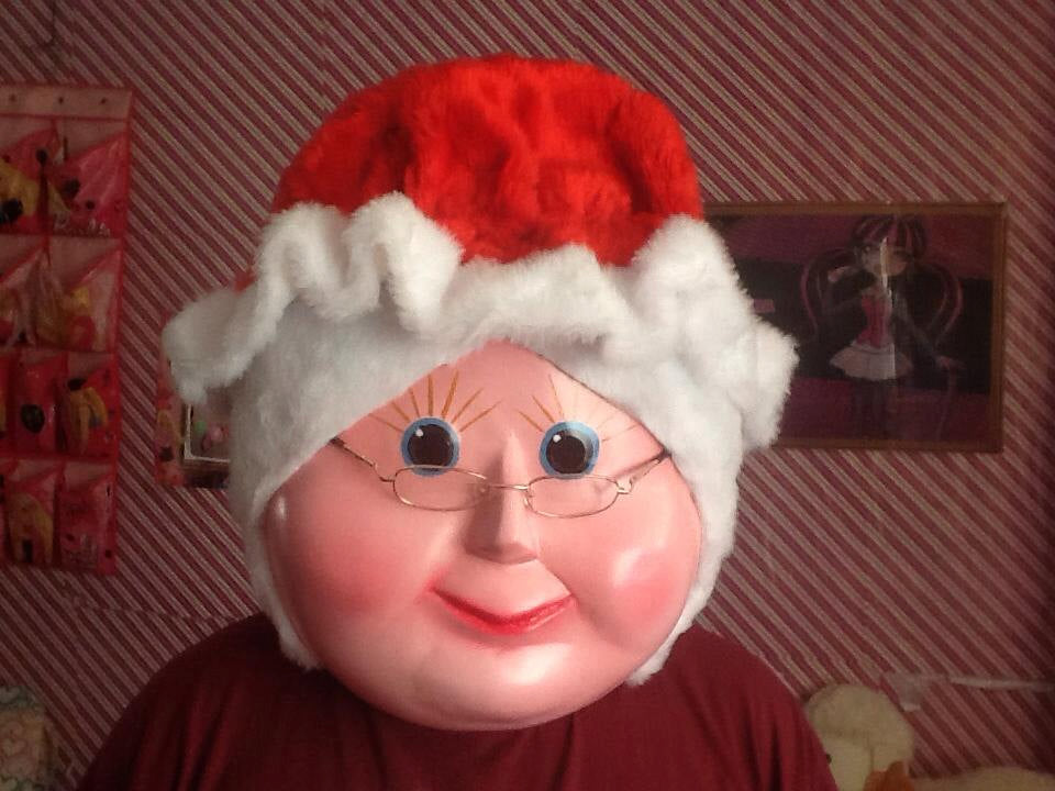 Mrs Claus Mascot Costume Head ONLY STD Adult size