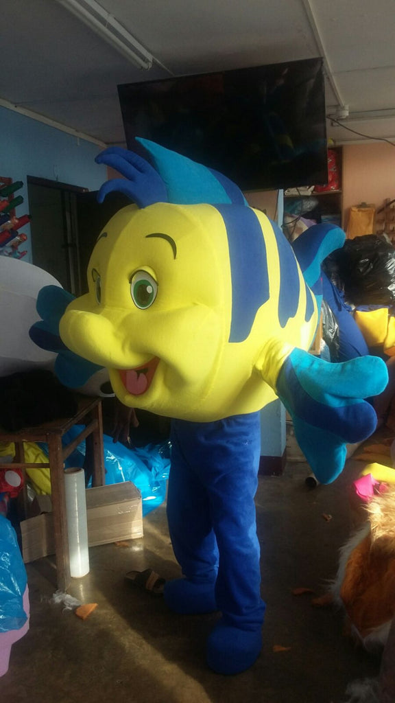 Flounder Mascot Costume Adult Fish Costume